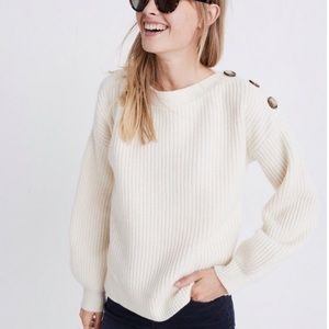 NWT button boatneck sweater